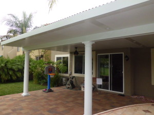 Irvine Roman Columns Solid Patio Cover