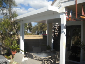 3'' insulated solid patio cover in San Clemente