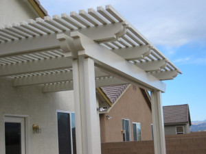 Double beam with standard posts Ladera Ranch Patio Cover
