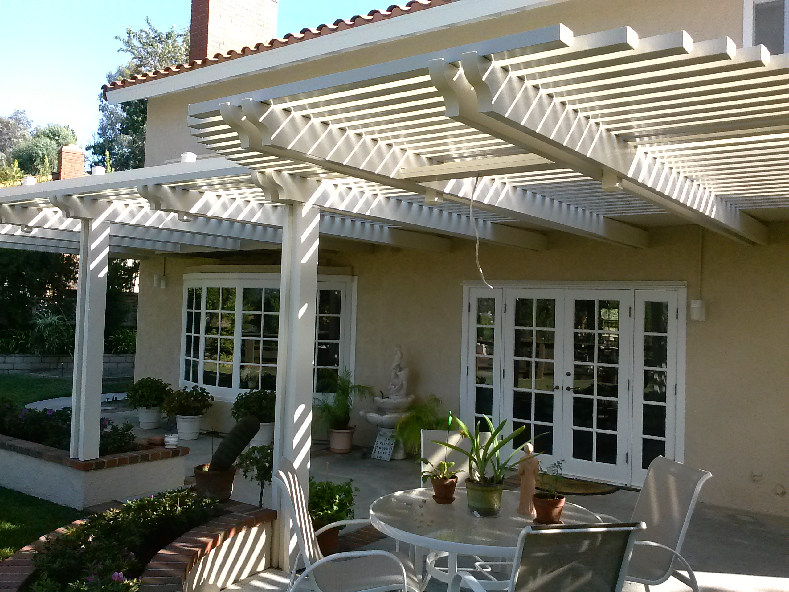 Aliso VIejo Double rafter with beams Alumawood Patio The Patio Man