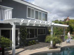 Aluminum Patio Cover with Large span  posts Laguna Hills