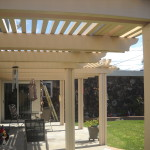 15 Year Old Alumawood Patio Cover in Huntgington Beach looks like new