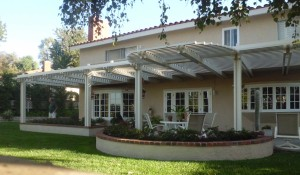 Open patio cover with radius in Aliso Viejo