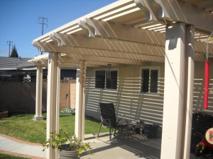 Scalloped end Patio Cover Huntington Beach