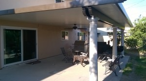 Patio Cover with Ceiling Fans and Lights Huntington Beach